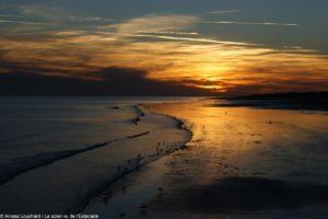 coucher de soleil saint jean de monts vu de l'estacade