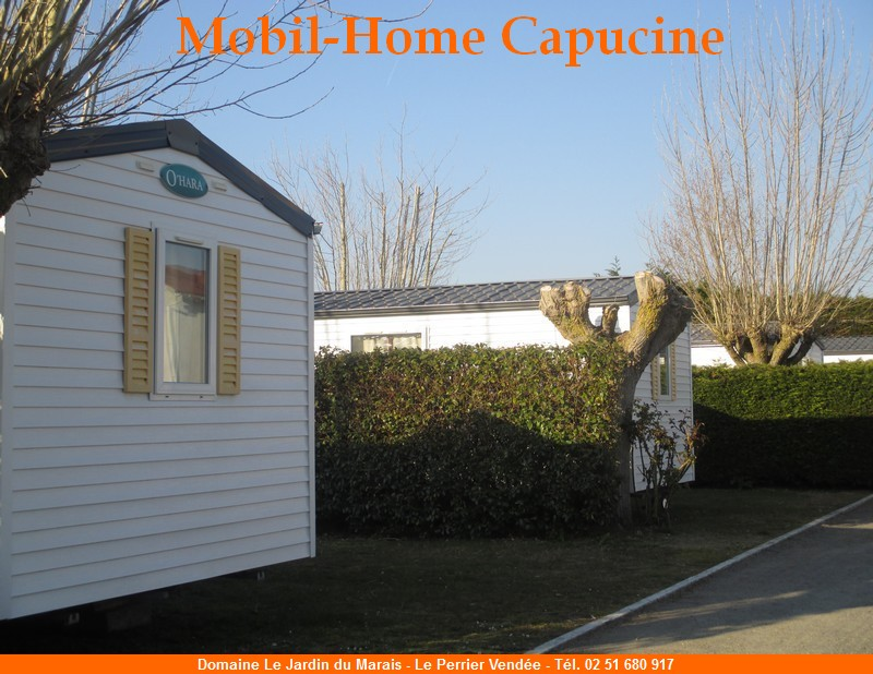 Location mobil home eco vendee saint jean de monts for Camping le jardin du marais