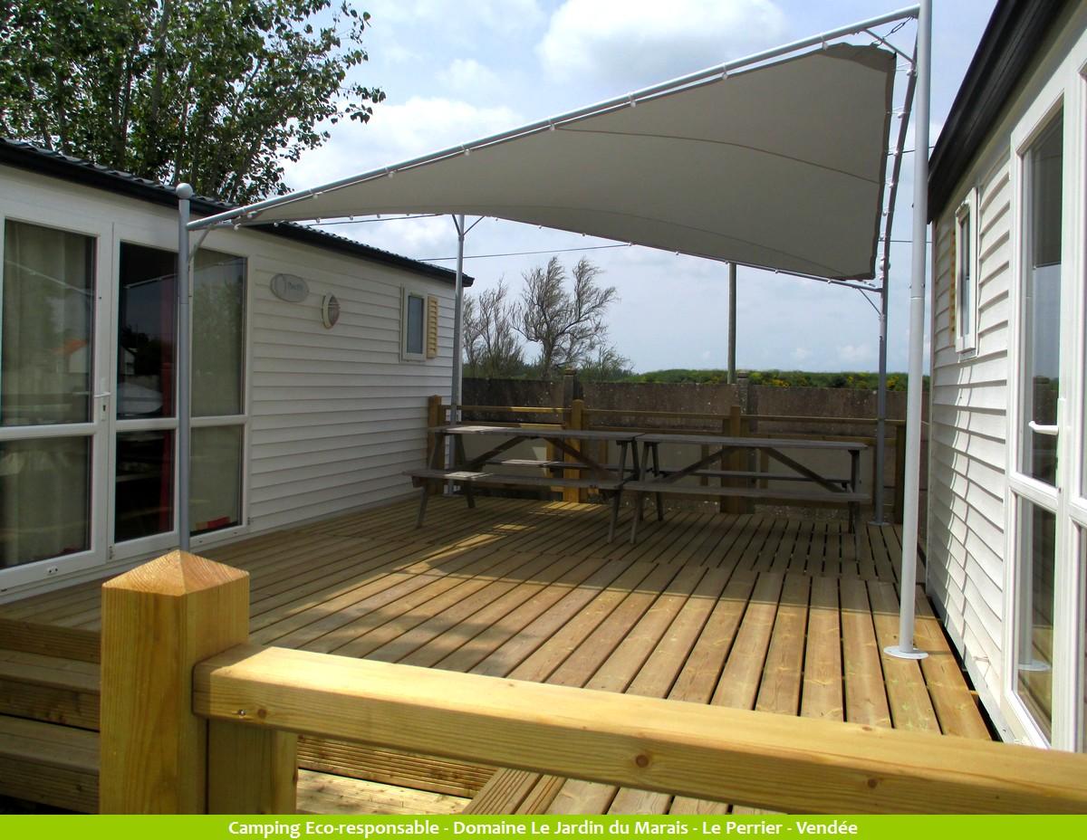 Location mobil home co 12 personnes 4 ch vend e - Terrasse jardin marais villeurbanne ...