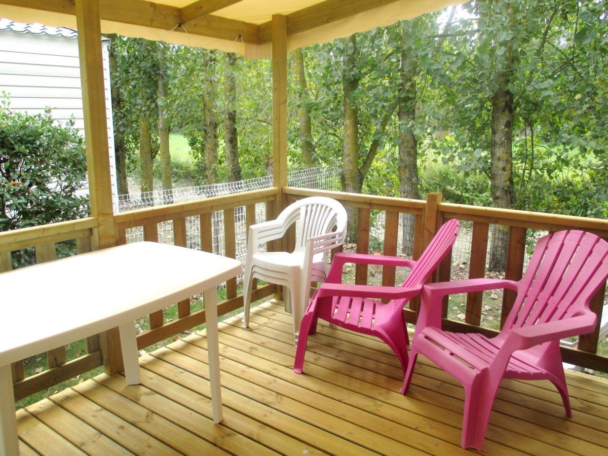 Mobil home irm vend e 2 chambres neuf avec terrasse - Terrasse jardin marais villeurbanne ...