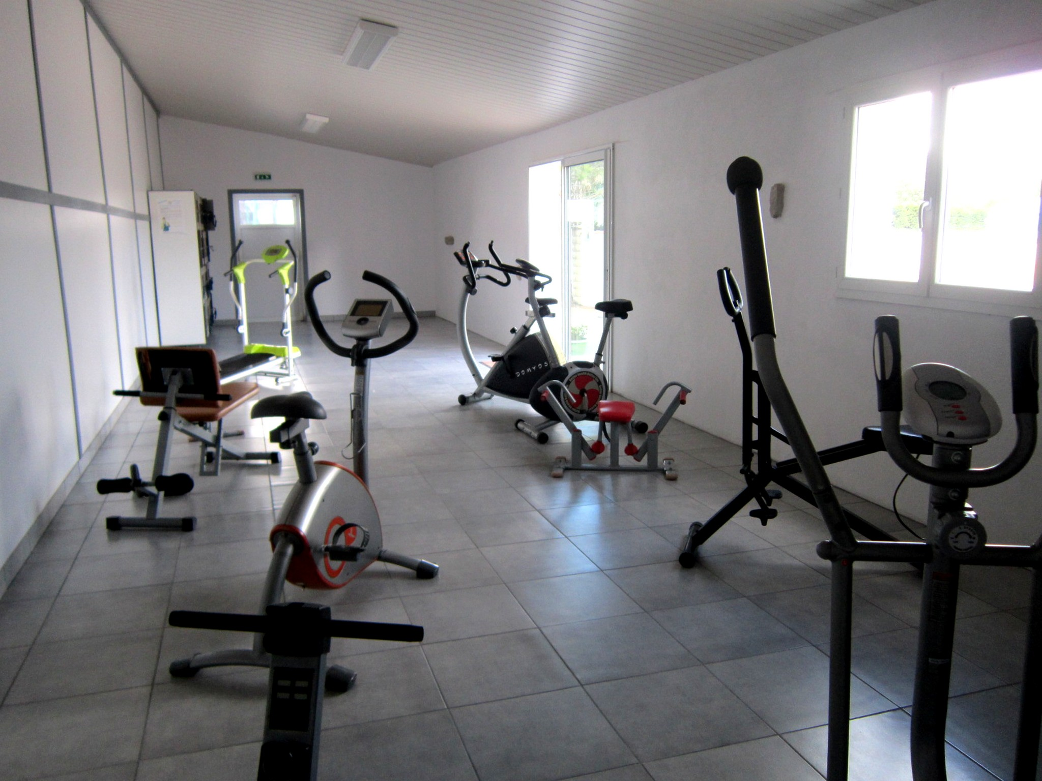 Family campsite with a fitness room